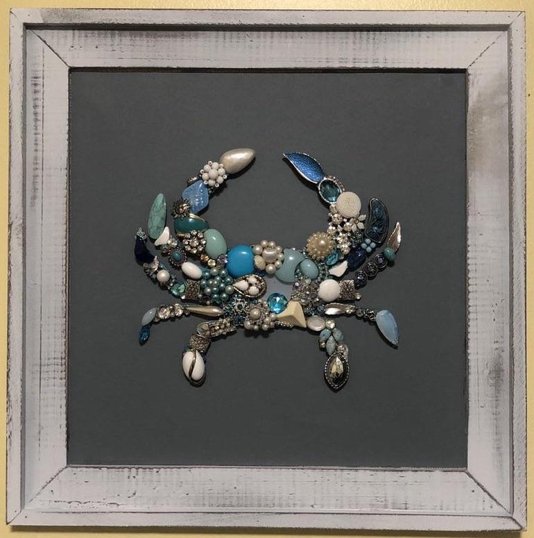 Framed Jeweled Crab