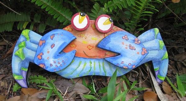 Hand-Painted Cartoon Crab