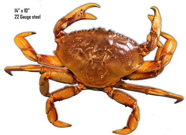 Laser Cut Metal Crab