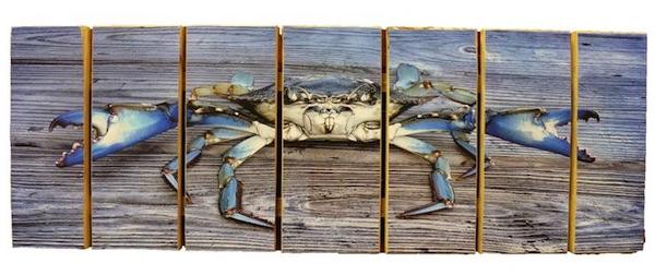 Maryland Blue Crab On Wood