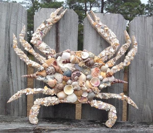 Coastal Decor Large Crab