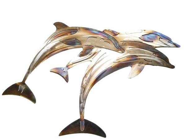 Dolphin Art: Stainless Steel Pod