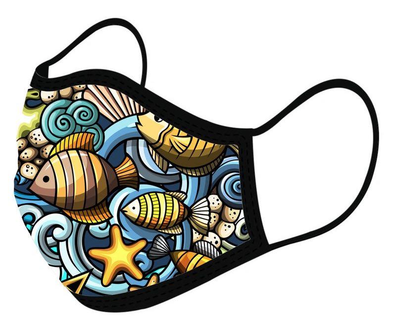 Bright Sea Creatures Face Mask