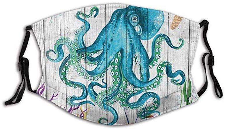 Octopus & Wooden Planks Face Mask