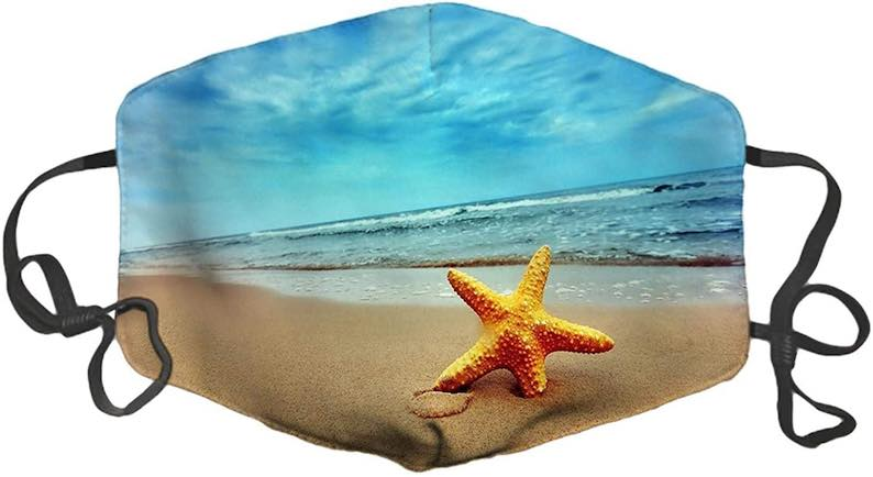 Starfish in the Surf Face Mask
