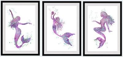 3 Purple Mermaids