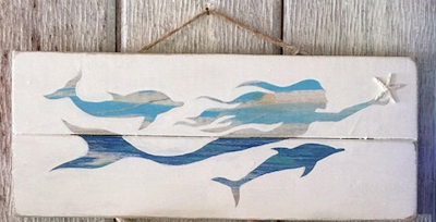 >Mermaid & Dolphin Sign