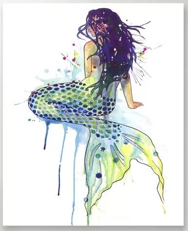 Purple-Haired Mermaid