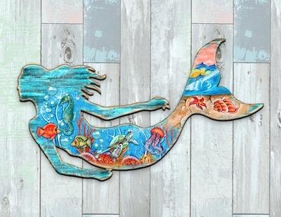 Rustic Coastal Mermaid
