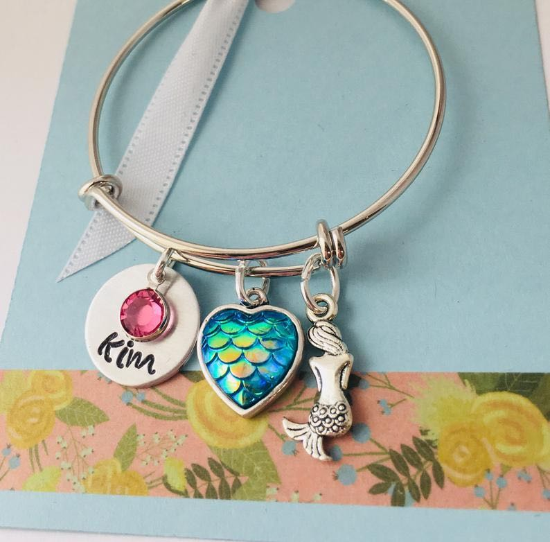Personalized Kids Mermaid Bracelet