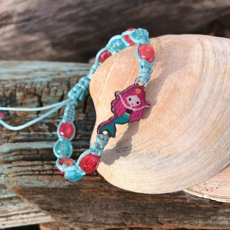 Adjustable Macrame Girl's Mermaid Bracelet