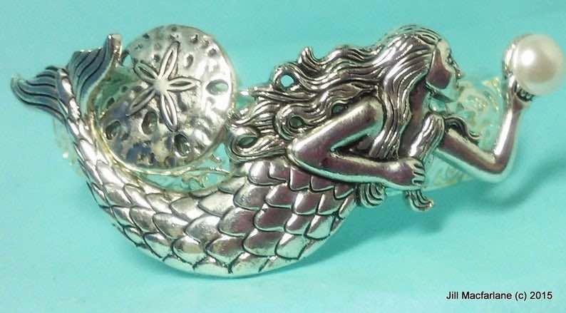 Silver on Silver Mermaid Bracelet