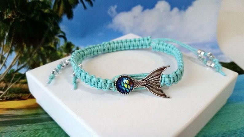 Macrame Mermaid Tail Bracelet
