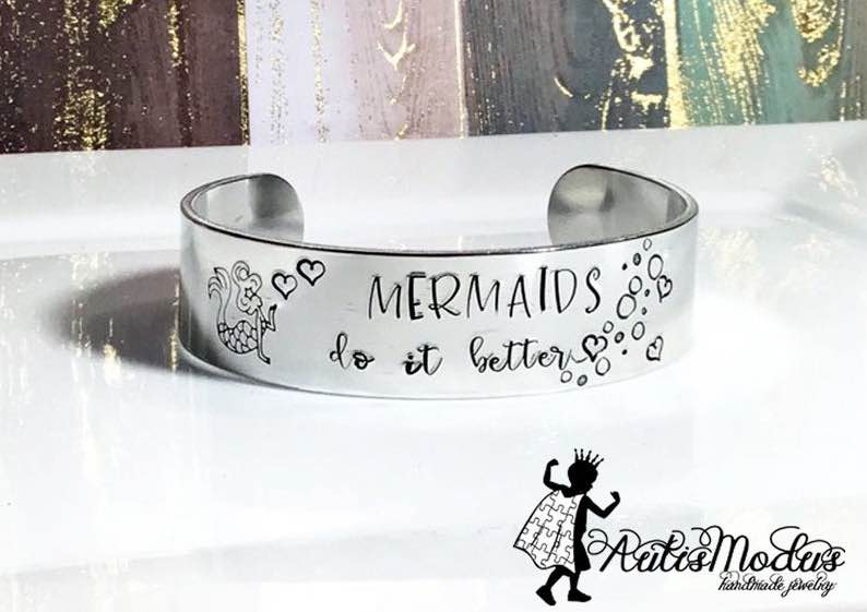 Mermaids Do It Better Cuff Bracelet