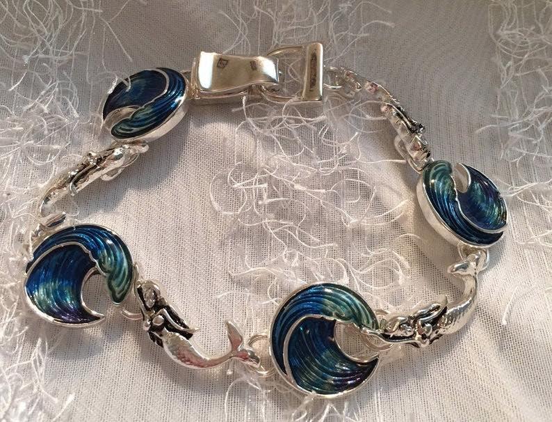 Mermaid Wave Bracelet Made Of Sterling Silver