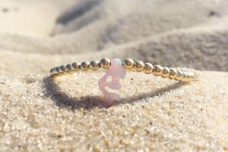 Mermaid White Opal Beaded Bracelet