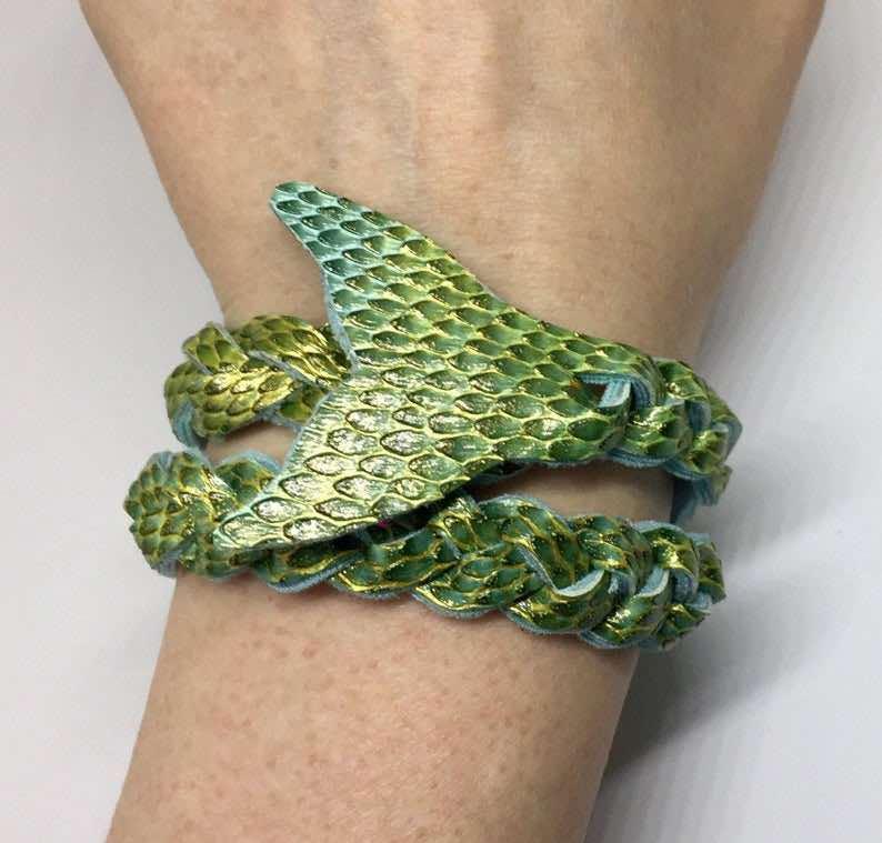 Green Wraparound Mermaid Tail Bracelet