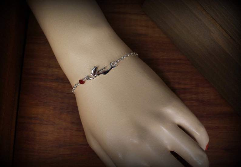 Sterling Silver and Crystal Mermaid Anklet