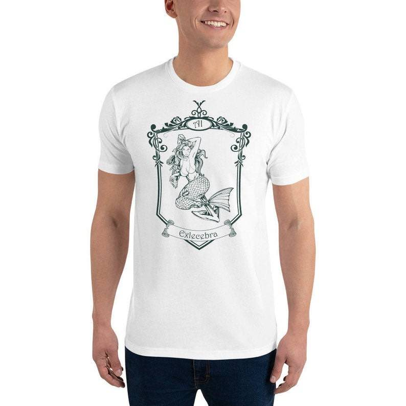 Mermaid Crest Sexy Siren Graphic T Shirt