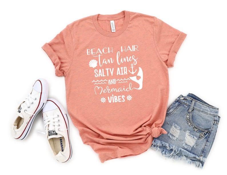 """Mermaid Vibes"" Summer Shirt"