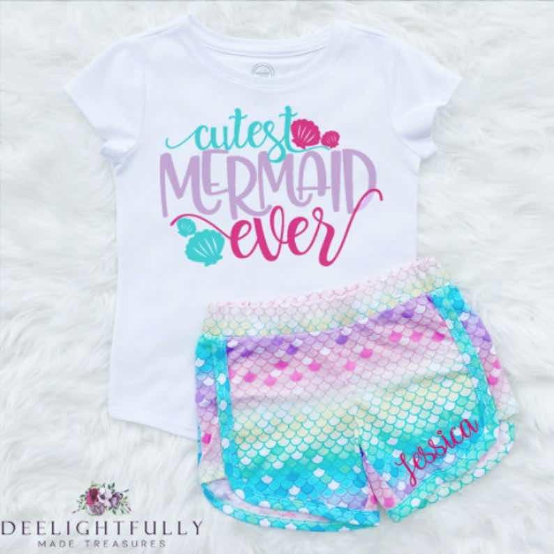 """Cutest Mermaid Ever"" Youth Shirt"