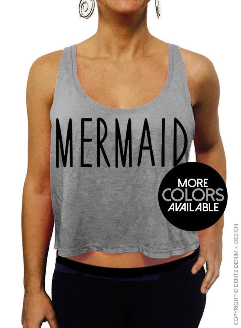 """""""Mermaid"""" Crop Tank Top"""