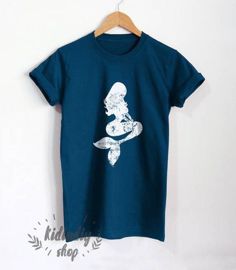 Distressed Vintage Design Mermaid Fairy Shirt