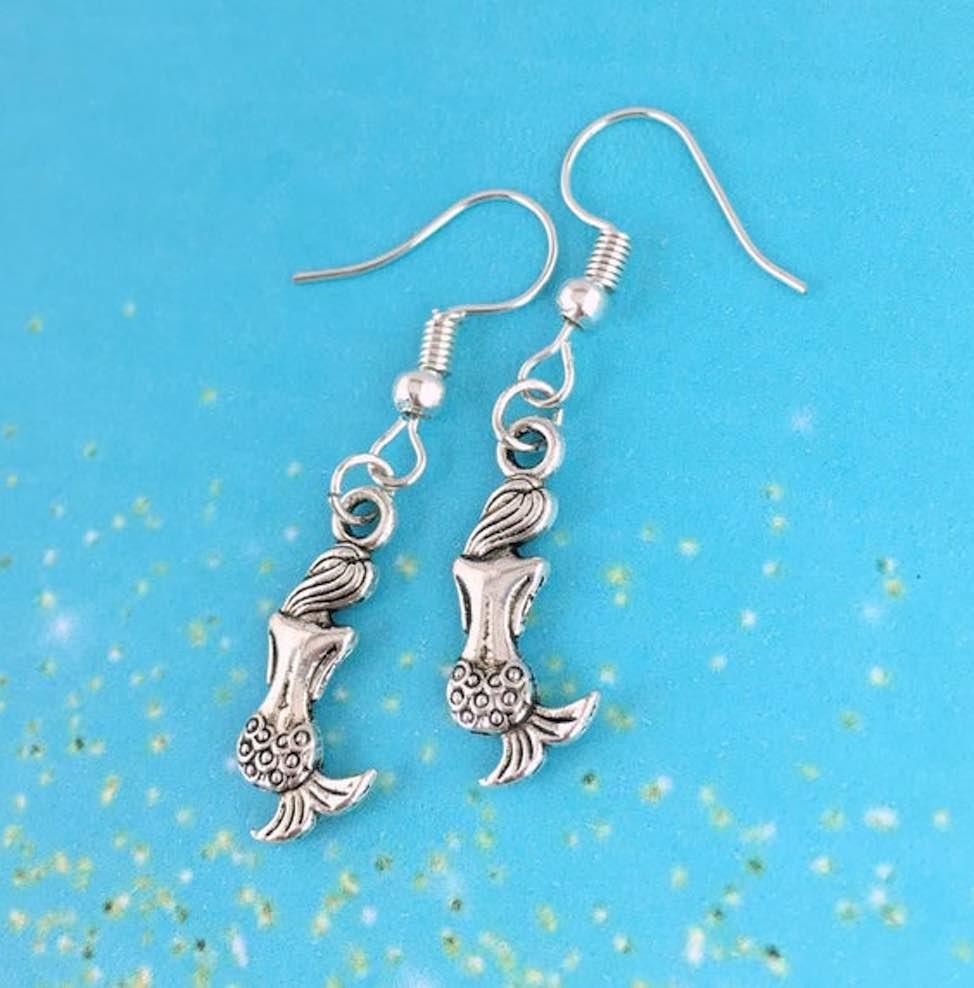 Sterling Silver Mermaid Fantasy Earrings