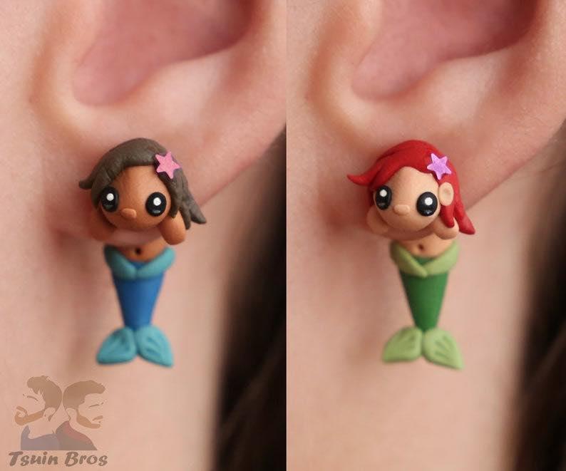 Cartoon Mermaid Earrings