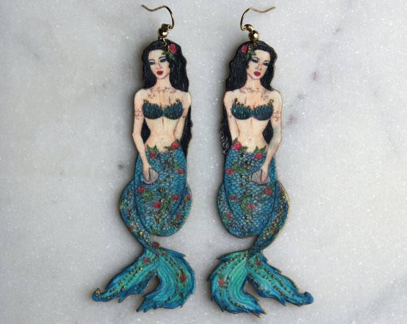 Blue Beauty Mermaid Earrings