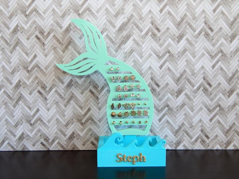 Personalized Mermaid Earring Stand