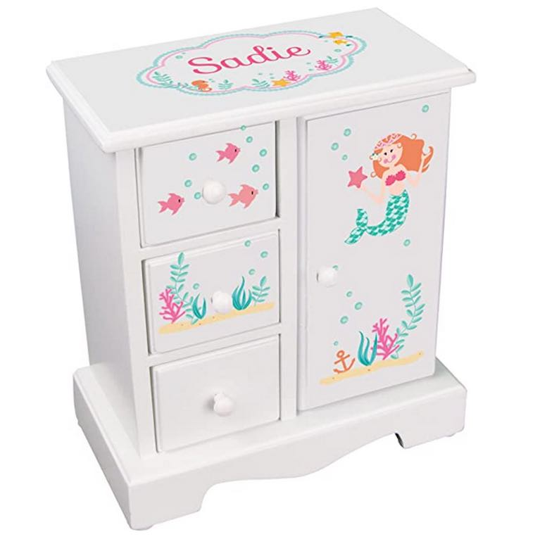 Little Mermaid Jewelry Armoire Chest Box