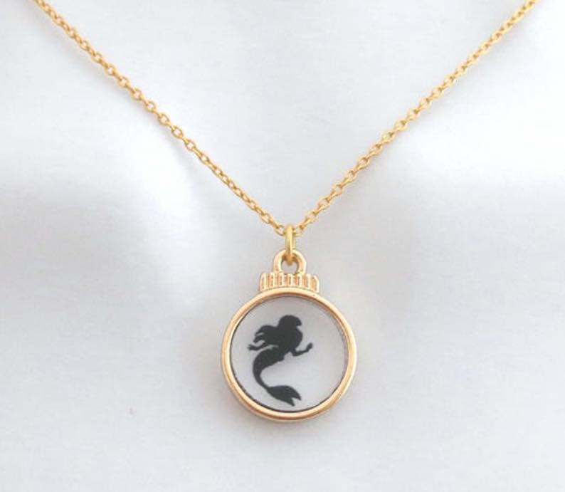 Glass & Gold Mermaid Necklace
