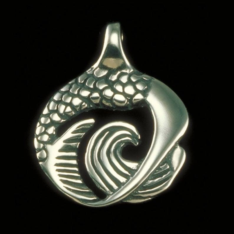 Yoga Backbend Pose Mermaid Pendant