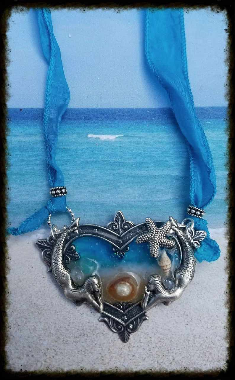 Art Nouveau Mermaid Necklace