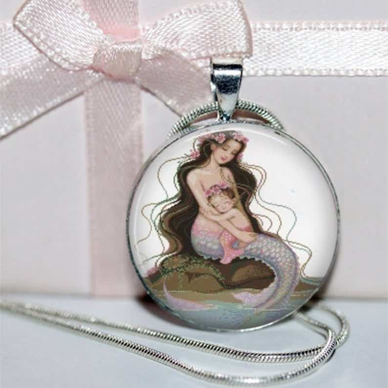 Mermaid and Child Pendant
