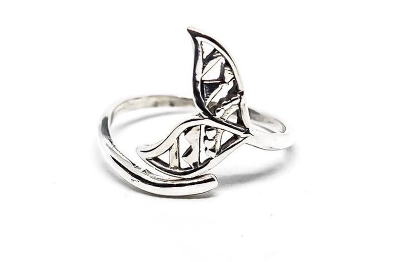 Sterling Silver Adjustable Mermaid Tail Ring