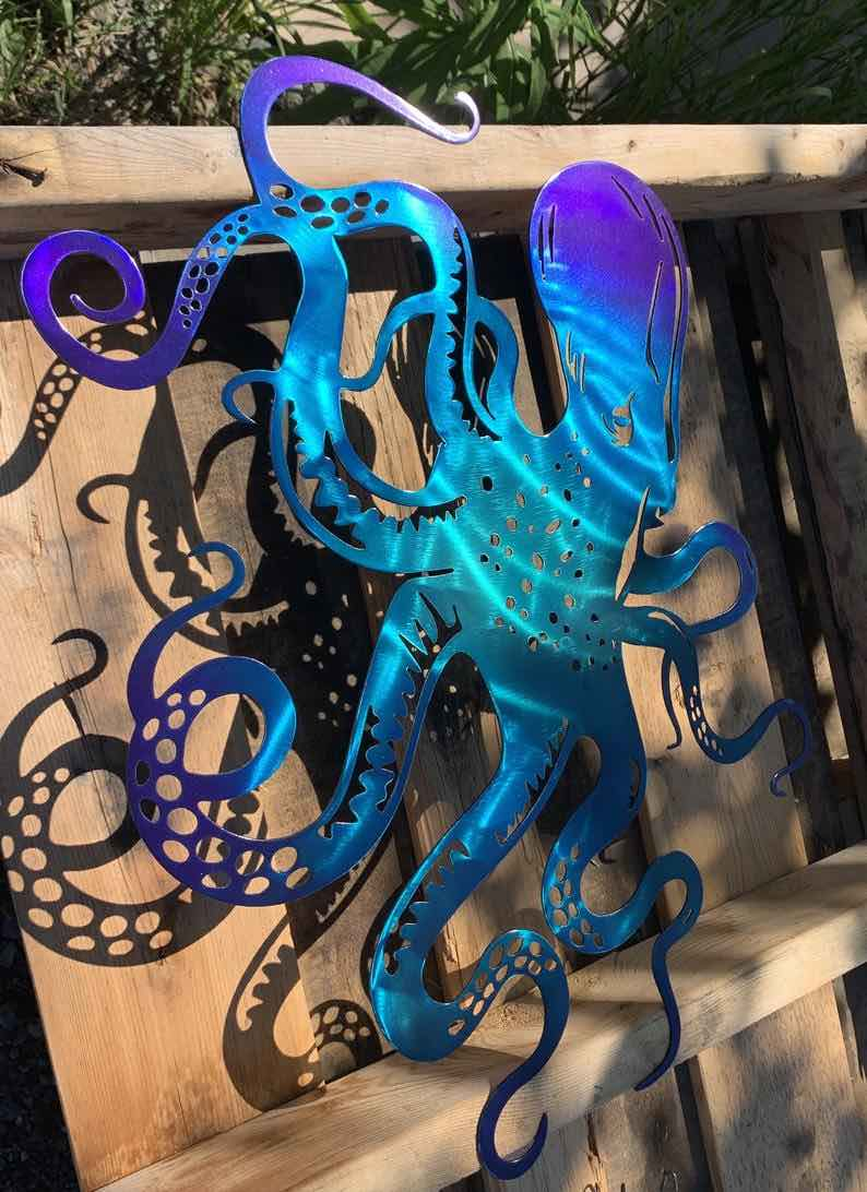 Metal Artwork Octopus