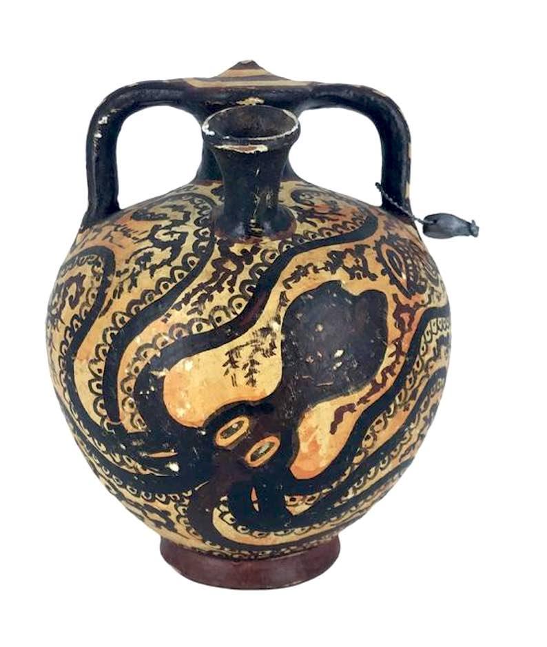 Minoan Terracotta Jar with Octopus