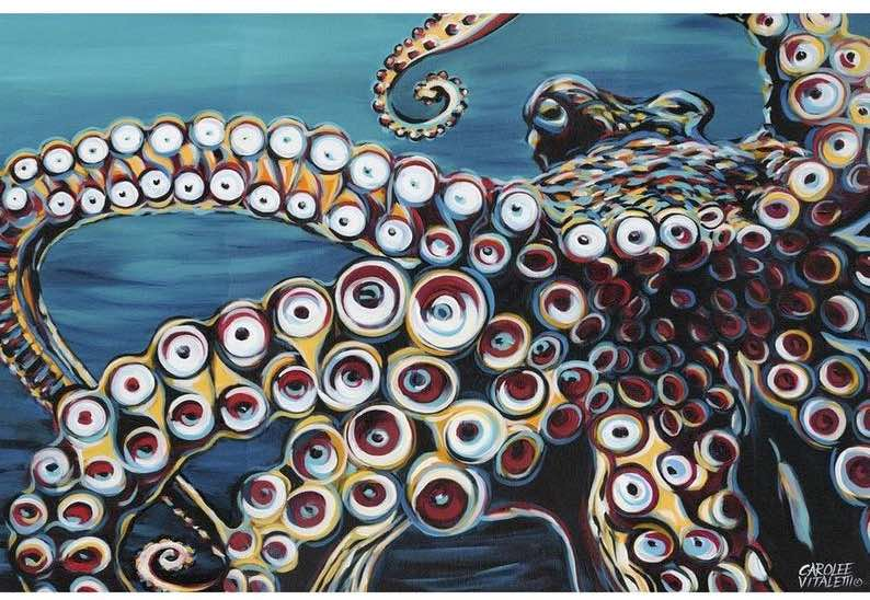 Wild Octopus I – Metal Wall Art Print