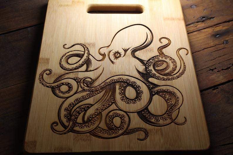 Octopus Cutting Board