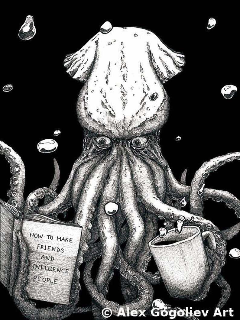 Octopus Self Help Wall Art
