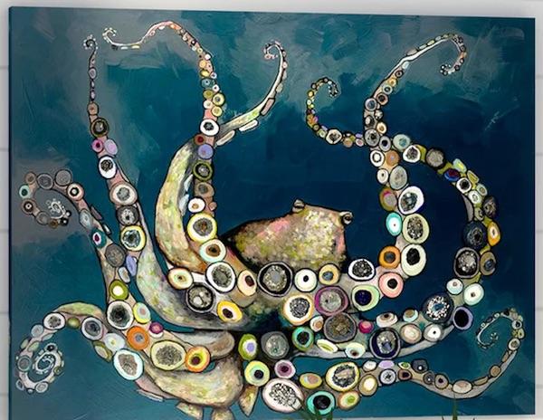 Octopus in the Deep Blue Sea