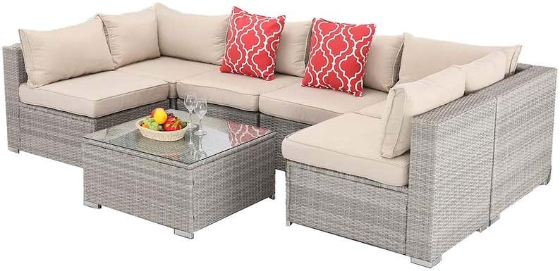Furnimy 7 PCS Outdoor Patio Furniture Set