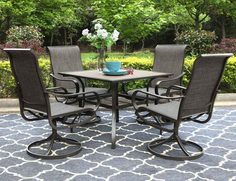 PHI VILLA Outdoor Dining Set for 4