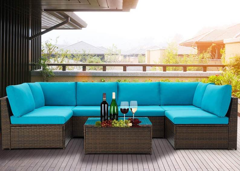U-MAX 7 Pieces Patio Furniture Set