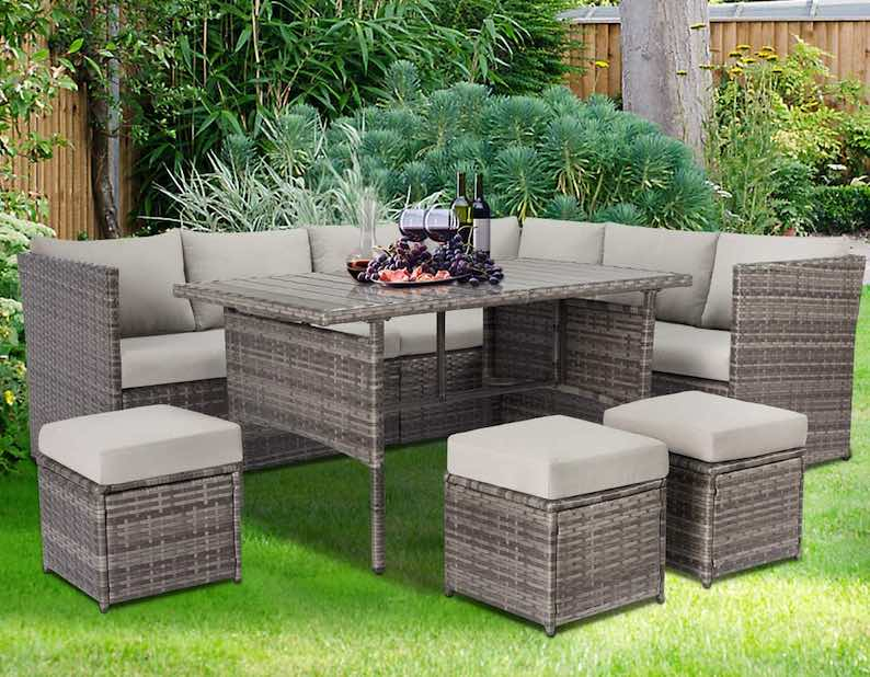 U-MAX Patio Furniture Sets 7 Pieces Outdoor Conversation Set