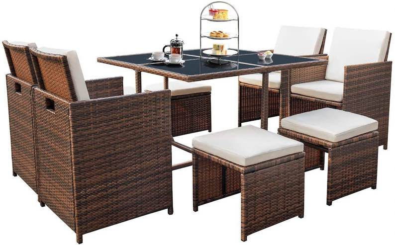 Devoko 9 Pieces Patio Dining Set