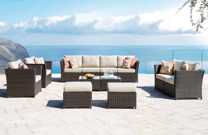 Cassville 12 Rattan Piece Complete Patio Set with Cushions
