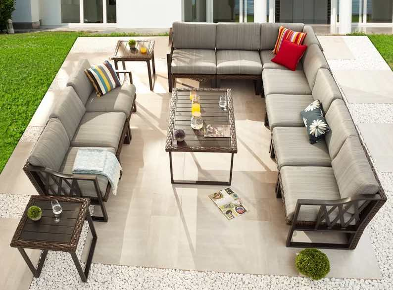 Mandujano Patio 13 Piece Rattan Sofa Seating Group with Cushions
